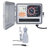 vidaXL Controlador de riego de agua para jardín con sensor de humedad