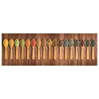 vidaXL Alfombra de cocina lavable Spoons 60x300 cm