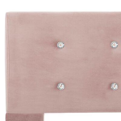 vidaXL Cama con colchón de terciopelo rosa 140x200 cm