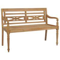 vidaXL Banco Batavia 150 cm madera de teca