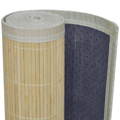 vidaXL Alfombra rectangular de bambú natural 120x180 cm