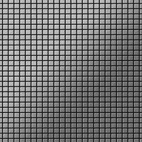 ALLOY Glomesh-S-S-B Mosaico de metal sólido Acero inoxidable gris