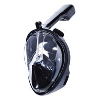 Máscara de snorkel con soporte GoPro negro L / XL