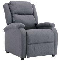 vidaXL Sillón reclinable para TV de tela gris oscuro