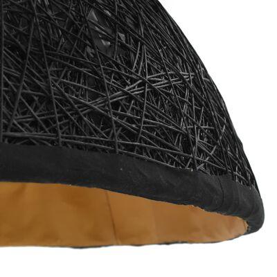 vidaXL Lámpara colgante negro y dorado E27 Ø70 cm