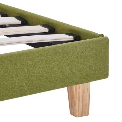 vidaXL Estructura de cama de tela verde 90x200 cm