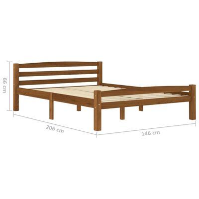 vidaXL Estructura de cama con 4 cajones pino marrón miel 140x200 cm