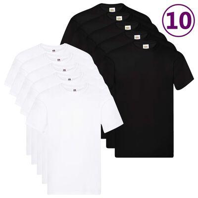 Fruit of the Loom Camisetas originales 10 uds 5XL algodón