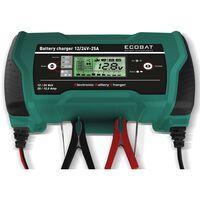 ECOBAT Cargador de batería 12/24 V 25 A