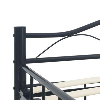 vidaXL Estructura de cama de acero negro 160x200 cm