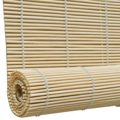 vidaXL Persianas enrollables de bambú natural 150x220 cm