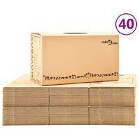 vidaXL Cajas de mudanza 40 unidades cartón XXL 60x33x34 cm