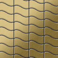 ALLOY Flux-Ti-GB Mosaico de metal sólido Titanio oro