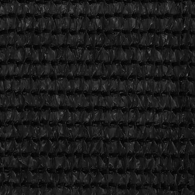 vidaXL Alfombra para tienda de campaña negra 400x500 cm