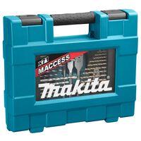 Makita Conjunto puntas de taladros de 71 piezas plateado y negro